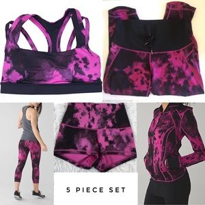 Lululemon 💕Blooming Pixie Raspberry 5 piece set